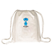 Black and Blue Logo - Drawstring Backpack