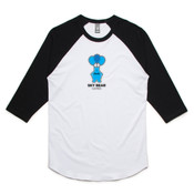 Black and Blue Logo - Unisex Raglan Tee